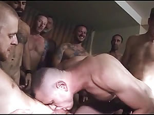 Dirty gay sex orgy - hot blowjob and anal penetration