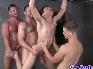 Prison orgy baton in Johnny Rapids ass