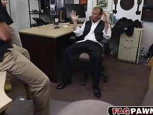 Sexy bitch dude fucked in pawn shop