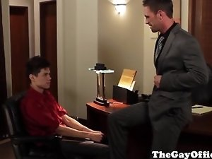 Gaysex office hunks sucks and fucked
