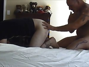 Army Daddy uses his slave boy