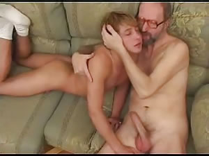 Young gay gets old cock